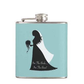 Bride Boss (teal) Hip Flask
