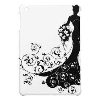 Bride Bouquet Wedding Silhouette Pattern iPad Mini Covers