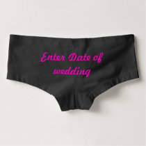 Bride Bow Boyshort underwear panties