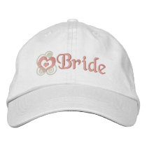 Bride Bridal Embroidery Embroidered Baseball Cap