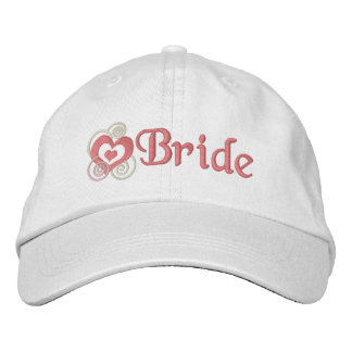 Bride Bridal Embroidery Embroidered Baseball Hat
