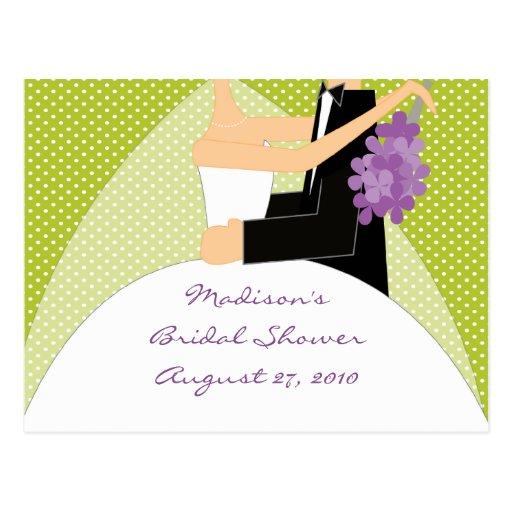 Bride Bridal Shower Advice Card Postcard