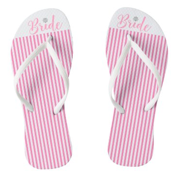 Beach Themed Bride, Bridal,Wedding, Pink Cute Flip Flops