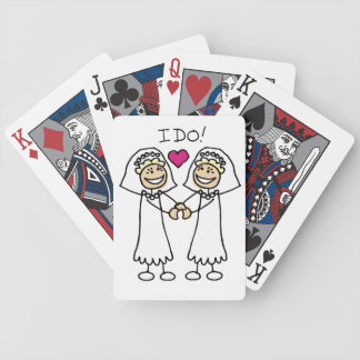 Bride-Bride I Do Bicycle Playing Cards