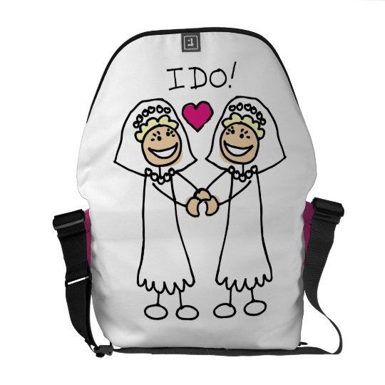 Bride-Bride I Do Courier Bag