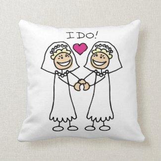 Bride-Bride I Do Pillow
