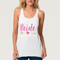 Bride   Bride Tribe  Heart Hot Pink Tank Top