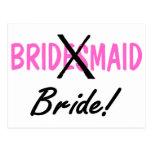 Bride Bridesmaid Postcard
