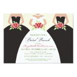 "Bride & Bridesmaids Bridal Brunch Invite (black) 5"" X 7"" Invitation Card"