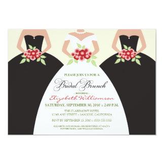 Bride & Bridesmaids Bridal Brunch Invite (black)