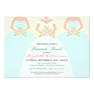 Bride & Bridesmaids Bridal Brunch Invite (mint)