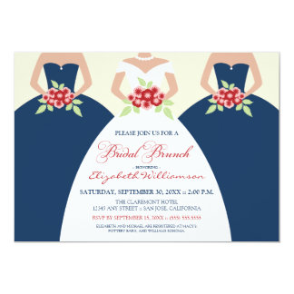 Bride & Bridesmaids Bridal Brunch Invite (navy)