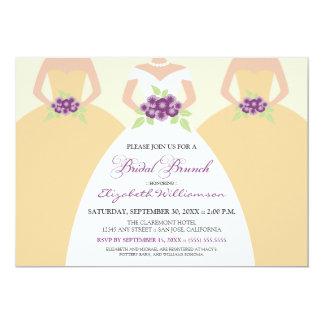 Bride & Bridesmaids Bridal Brunch Invite (yellow)