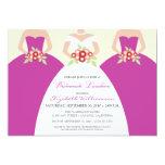Bride & Bridesmaids Bridal Luncheon (fuchsia) 5x7 Paper Invitation Card