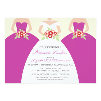 Bride & Bridesmaids Bridal Luncheon (fuchsia) Card
