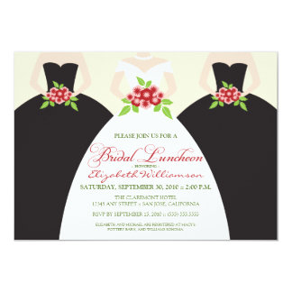 Bride & Bridesmaids Bridal Luncheon Invite (black)