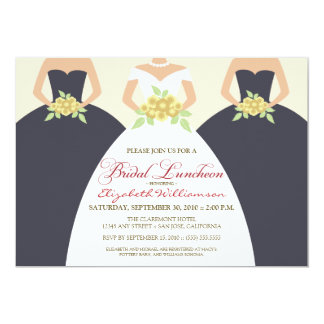 Bride & Bridesmaids Bridal Luncheon Invite (grey)