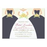 "Bride & Bridesmaids Bridal Luncheon Invite (grey) 5"" X 7"" Invitation Card"