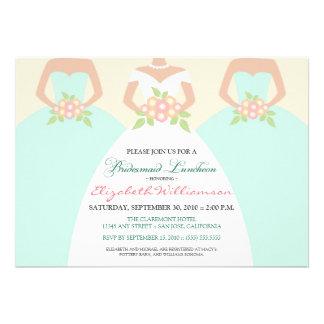 Bride Bridesmaids Bridal Luncheon Invite mint
