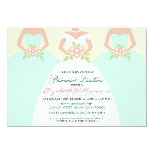 Bride & Bridesmaids Bridal Luncheon Invite (mint) 5
