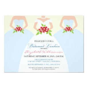 Bridesmaids Luncheon Invitations Announcements Zazzle