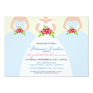 Bride & Bridesmaids Bridal Luncheon Invite (mist)
