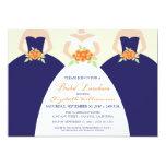 Bride & Bridesmaids Bridal Luncheon Invite (navy)