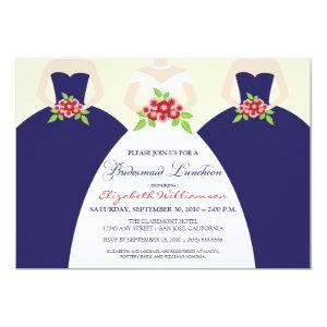 Bride & Bridesmaids Bridal Luncheon Invite (navy) 5