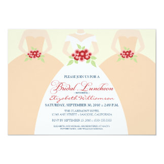 Bride & Bridesmaids Bridal Luncheon Invite (peach)