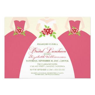 Bride Bridesmaids Bridal Luncheon Invite pink