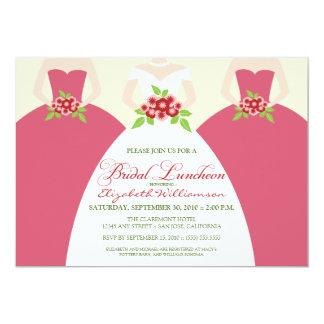 """Bride & Bridesmaids Bridal Luncheon Invite (pink) 5"""" X 7"""" Invitation Card"""
