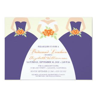 Bride & Bridesmaids Bridal Luncheon Invite: purple Card