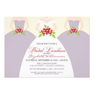 Bride Bridesmaids Bridal Luncheon Invite purple