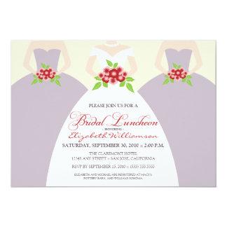 Bride & Bridesmaids Bridal Luncheon Invite: purple 5x7 Paper Invitation Card
