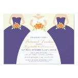 """Bride & Bridesmaids Bridal Luncheon Invite: purple 5"""" X 7"""" Invitation Card"""