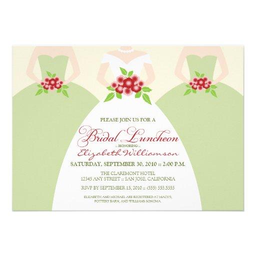 personalized bridesmaids luncheon invitations custominvitations4u com