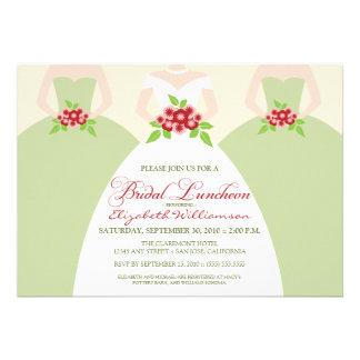 Bride Bridesmaids Bridal Luncheon Invite sage