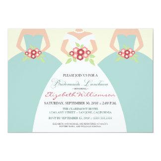 Bride & Bridesmaids Bridal Luncheon (seaside) Card