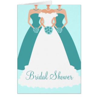 Bride & Bridesmaids Bridal Shower Invitation