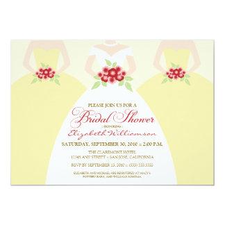 Bride & Bridesmaids Bridal Shower Invite (yellow)
