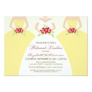 Bride & Bridesmaids Bridesmaid Luncheon / yellow Card