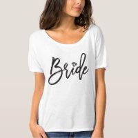 Bride Brush Diamond Bridal Party Wedding T-shirt