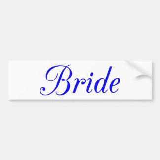Bride Car Bumper Sticker
