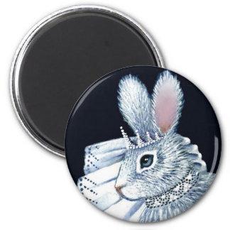 Bride Bunny Rabbit Round Magnet
