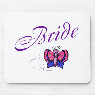 Bride Butterfly Mouse Pad