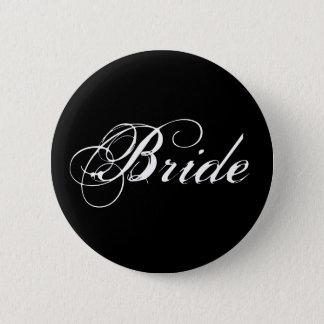 Bride Button in Black