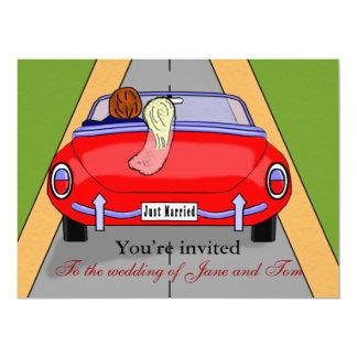 Bride Car Personalized Invite