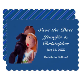 Bride Carrying Groom Save the Date Flat Card