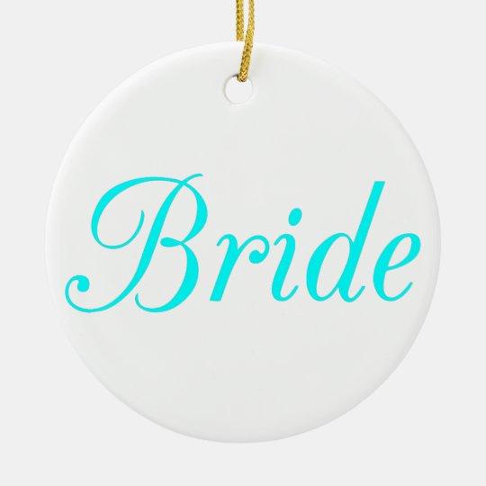 Bride Ceramic Ornament