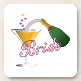 Bride Champagne Toast Bride Beverage Coaster